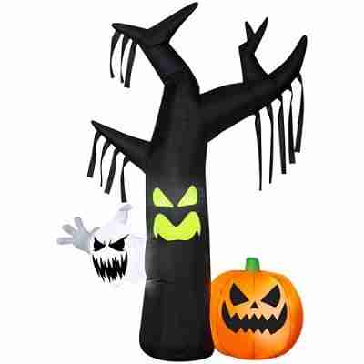 Halloween Airblown Inflatable Ghostly Tree Scene 7 FT Tall