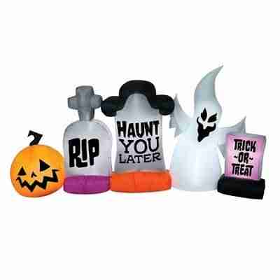 Halloween Inflatable Graveyard Stone