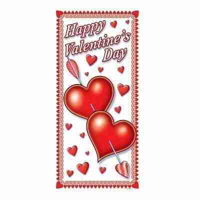 Happy Valentine's Day Door Cover, 30-Inch by 5-Feet