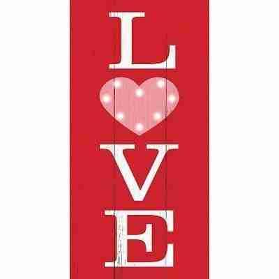 Light-Up Love Easel Sign