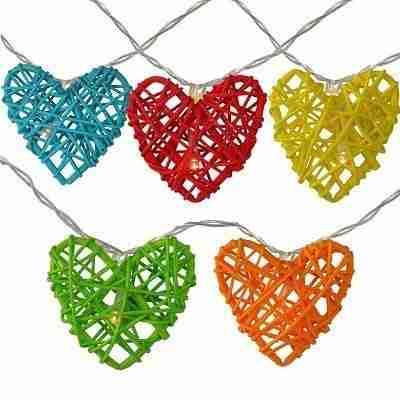 Valentines Day Heart String Novelty Lights