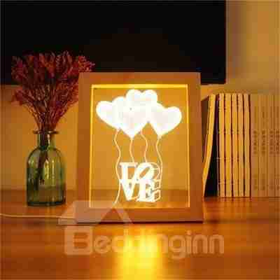 Wonderful and Romantic Pine Frame Acrylic 3D LED Light Night