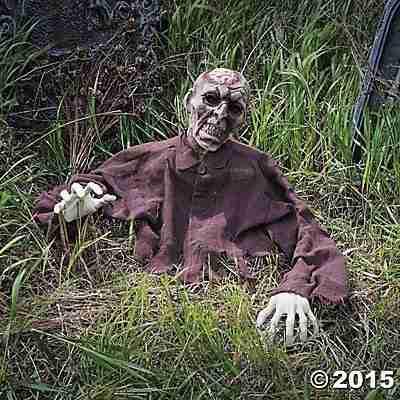 Brain Zombie Ground Breaker Halloween Decoration Prop