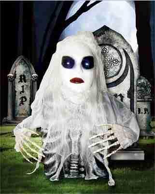 Way To Celebrate Halloween Light-Up Grave Breaker, Ghost Bride